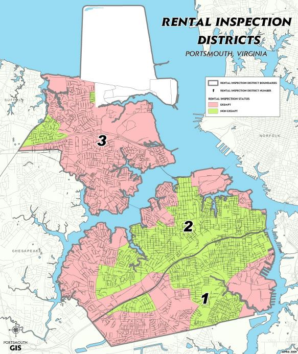 Rental Inspection Districts Map