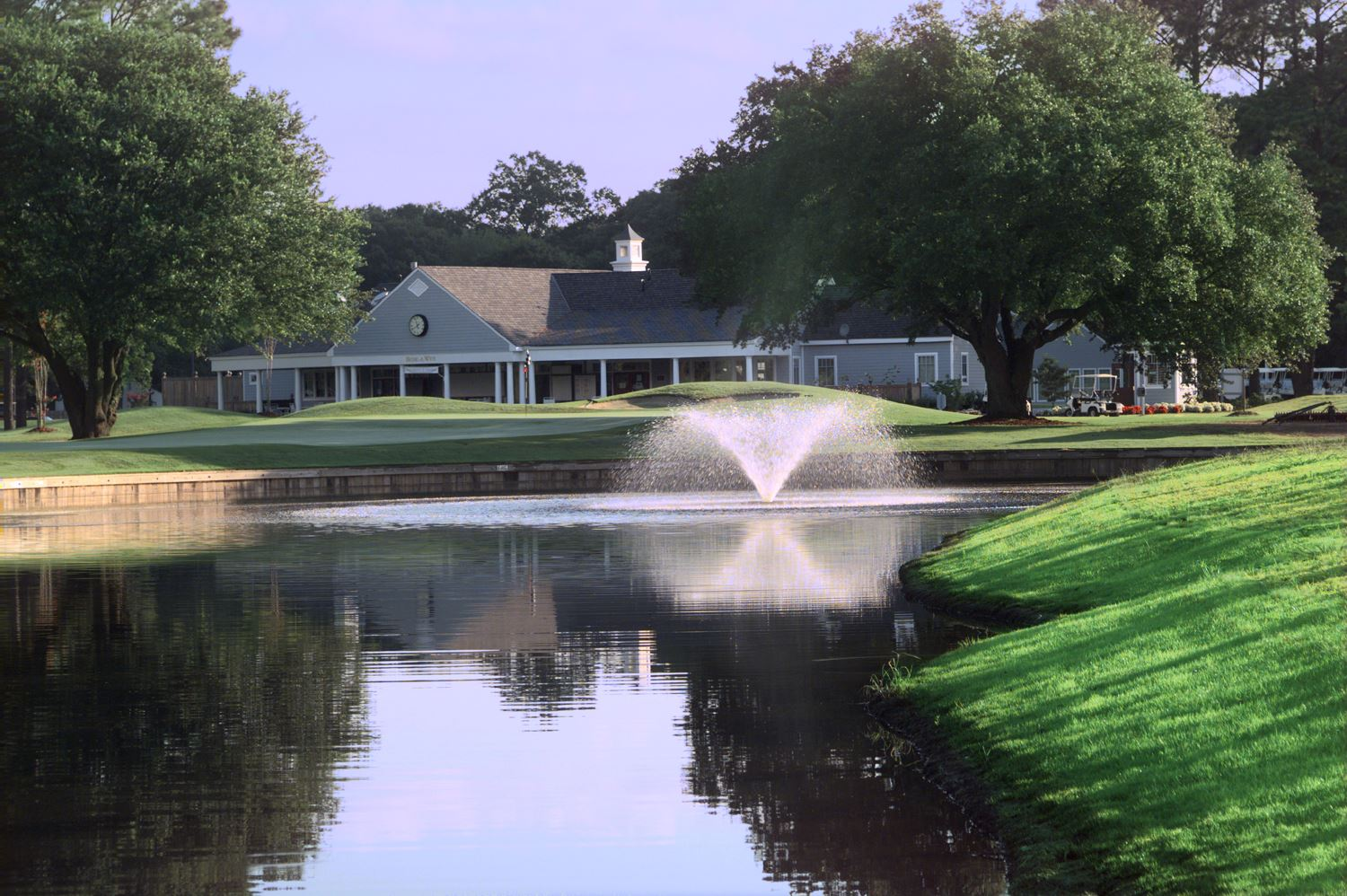 Bide-A-Wee Golf Course pond and fountain