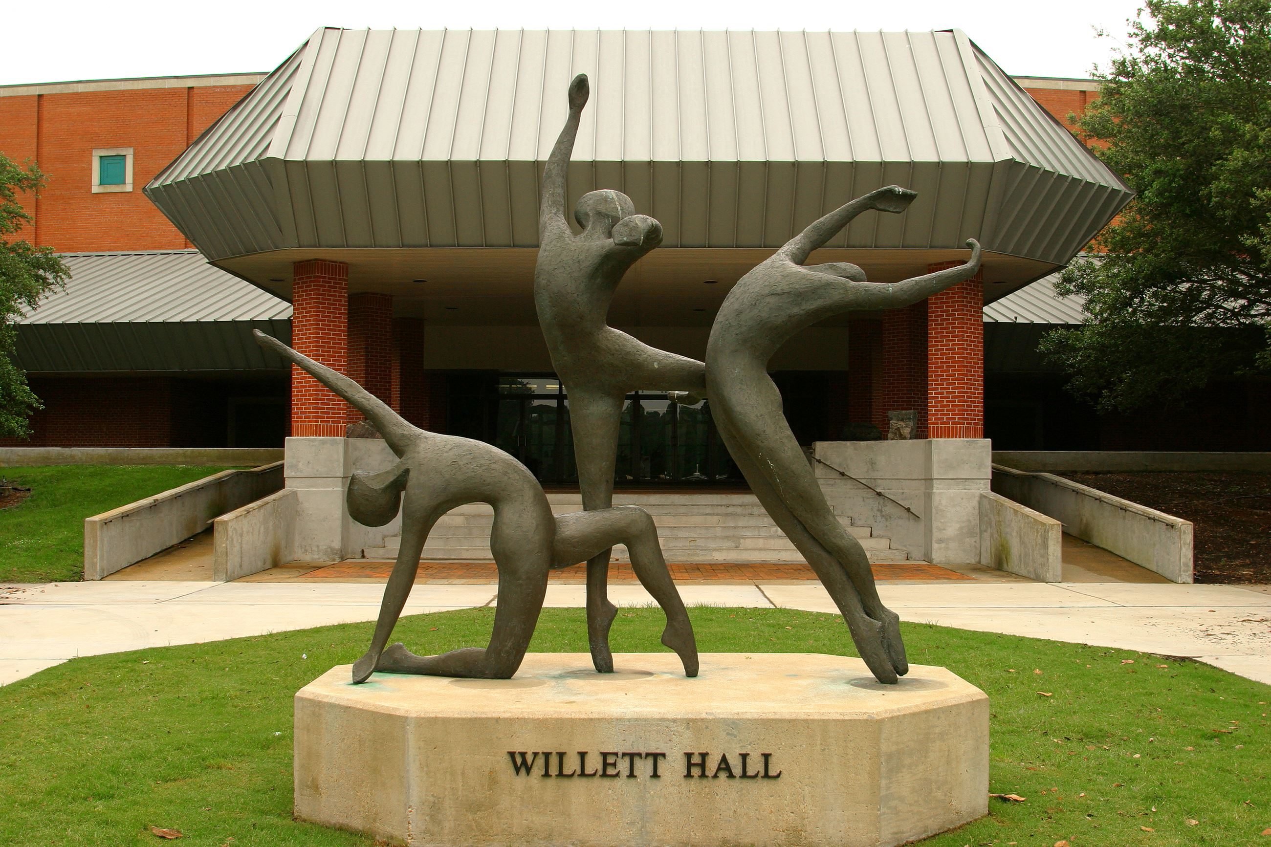 Willet Hall entrance statue